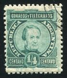 Jose Maria Paz. ARGENTINA - CIRCA 1890: stamp printed by Argentina, shows Jose Maria Paz, circa 1890 Stock Images