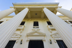 Jose Marti Library Neoclassical Architecture-Santa Clara,Cuba. Marti Library Biblioteca Jose Marti neoclassical architectural details. The building used to be stock photo