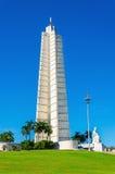 Jose Marti Memorial på plazaen Revolucion i havannacigarr Arkivbild