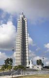 Jose Marti minnesmärke på revolutionfyrkant i havannacigarr cuba royaltyfria bilder