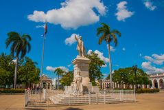 Jose Marti monument or statue in Cienfuegos plaza which carries his name. Cuba. Jose Marti monument or statue in Cienfuegos plaza which carries his name. Marti Stock Images