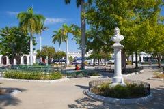 Jose Marti Park i Cienfuegos, Kuba arkivfoton