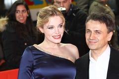 Jose Mota and Carolina Herrera Stock Images