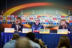 Jose Mourinho, λεωφορείο της Manchester United Στοκ φωτογραφία με δικαίωμα ελεύθερης χρήσης
