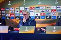 Jose Mourinho, λεωφορείο της Manchester United Στοκ φωτογραφίες με δικαίωμα ελεύθερης χρήσης