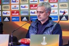 Jose Mourinho, λεωφορείο ` Manchester United ` Στοκ φωτογραφία με δικαίωμα ελεύθερης χρήσης