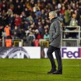 Jose Mourinho, στιγμές παιχνιδιών Στοκ φωτογραφία με δικαίωμα ελεύθερης χρήσης