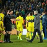 Jose Mourinho, στιγμές παιχνιδιών Στοκ φωτογραφίες με δικαίωμα ελεύθερης χρήσης