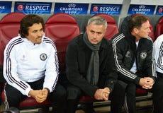 Jose Mourinho of Chelsea goal celebration Stock Photos
