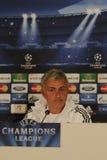 Jose Mourinho de Chelsea - conférence de presse image libre de droits