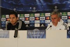 Jose Mourinho e Frank Lampard fotos de stock royalty free