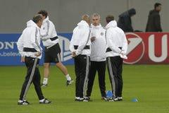 Jose Mourinho e seu pessoal foto de stock