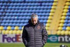 Jose Mourinho lagledare av `-Manchester United` på under utbildningsperiod arkivfoton