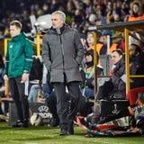 Jose Mourinho modiga ögonblick royaltyfri bild