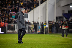 Jose Mourinho, moments de jeu Photographie stock