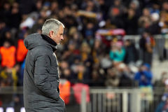 Jose Mourinho, moments de jeu Photos stock