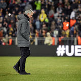 Jose Mourinho, moments de jeu Image stock