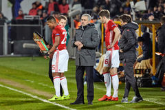 Jose Mourinho, moments de jeu Photo libre de droits