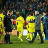 Jose Mourinho, moments de jeu Photos libres de droits