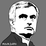 Jose Mourinho. Vector of Legends and Football Managers royalty free illustration