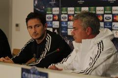 Jose Mourinho y Frank Lampard Fotografía de archivo libre de regalías