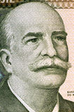 Jose Paranhos, Baron of Rio Branco. (1845-1912) on 1000 Cruzeiros 1981 Banknote from Brazil. Brazilian diplomat, geographer, historian, monarchist, politician Royalty Free Stock Images