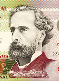 Jose Pedro Varela. (1845-1879) on 50 Pesos 2008 Banknote from Uruguay. Uruguayan sociologist, journalist, politician and educator Royalty Free Stock Images