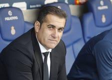 Jose Ramon Sandoval chef av Granada CF Arkivfoto