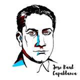 Jose Raul Capablanca Portrait royalty-vrije illustratie