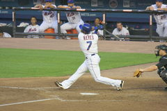 Jose Reyes Swings Stock Image