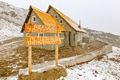 Jose Ribas Refugee On Tungurahua Volcano. The Jose F Rivas Refuge Is The Most Popular And Frequented Refuge On The Northern Flanks Of Volcano Cotopaxi At 4 800 M Stock Photos