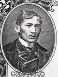 Jose Rizal portrait. From Philippine money stock photos