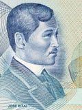 Jose Rizal portrait. From old Philippine money stock photo