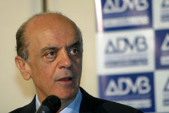 Jose Serra, candidate to president of brazil Royalty Free Stock Image