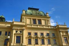Josef Kajetà ¡ n Tyl Theatre, stara architektura, Pilsen, republika czech Zdjęcie Royalty Free