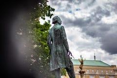 Josef Manes staty i Prague royaltyfri bild