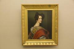 Josef Stier-het schilderen in Neu Pinakothek in München in Duitsland royalty-vrije stock afbeelding