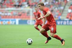 Josef Sural. PRAGUE 05/06/2015 _ Friendly match Czech Reublic - South Korea royalty free stock image