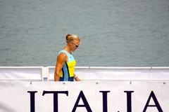Josefa Idem, Italian champion Royalty Free Stock Photo