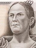 Josefa Ortiz de Domínguez - La Corregidora portrait. Josefa Ortiz de Domínguez - La Corregidora portrait from Mexican Pesos Royalty Free Stock Photography