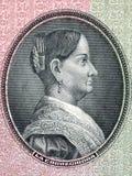 Josefa Ortiz de Domínguez portrait. Josefa Ortiz de Domínguez portrait from old Mexican money Stock Photo