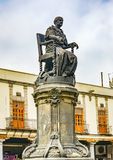Josefa Ortiz de Dominguez Statue Plaza Santo Domingo Mexico City Mexico. Domingues is a heroine of Mexican War of Independence early 1800s stock image