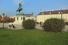 Josefsplatz在维也纳 图库摄影