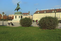 Josefsplatz i Wien Arkivbild