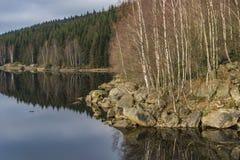 Josefuv Dul reservoir in Jizerske hory mountains Royalty Free Stock Photos