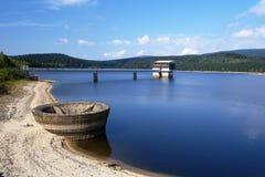 Josefuv Dul Reservoir. A water reservoir near Josefuv Dul, Jizera mountains Stock Images