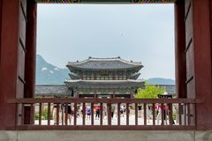Free Joseon Dynasty King`s Office  In Gyeongbokgung In Seoul, South Korea Stock Image - 159609661