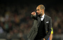 Josep Guardiola of Barcelona Royalty Free Stock Images