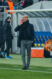 Josep Guardiola Gelijke tussen FC Shakhtar versus FC Beieren Champions League Royalty-vrije Stock Fotografie