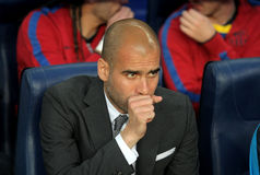 Josep Guardiola manager of Barcelona Royalty Free Stock Images